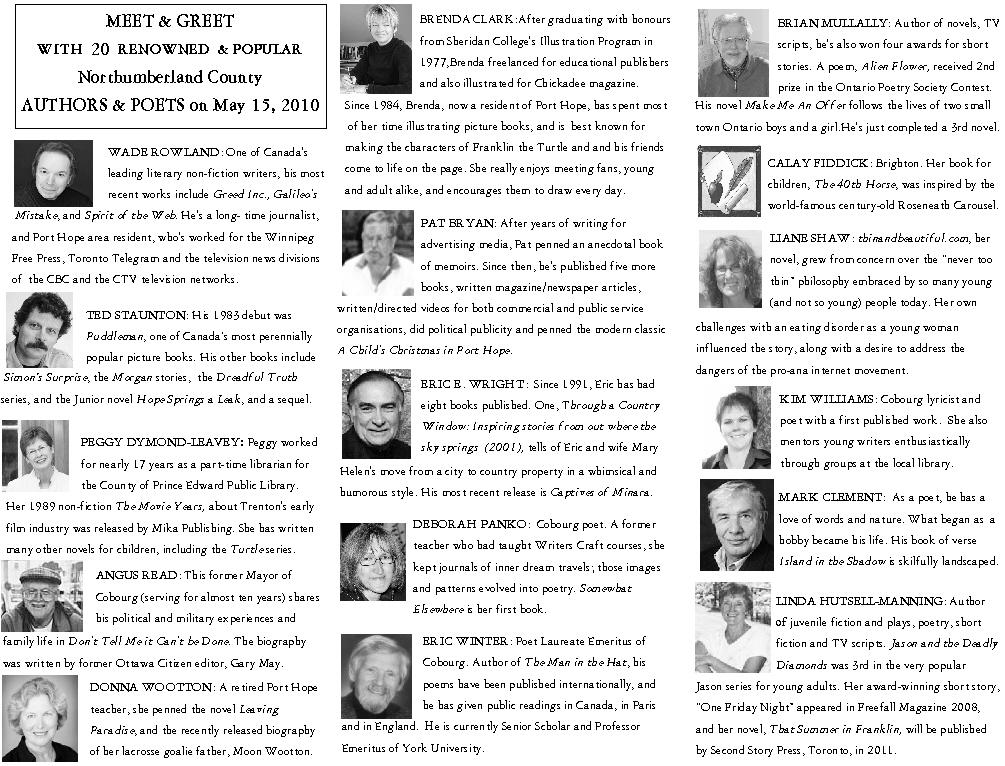 2010 northumberland author meet greet meet greet brochure inside panels m4hsunfo